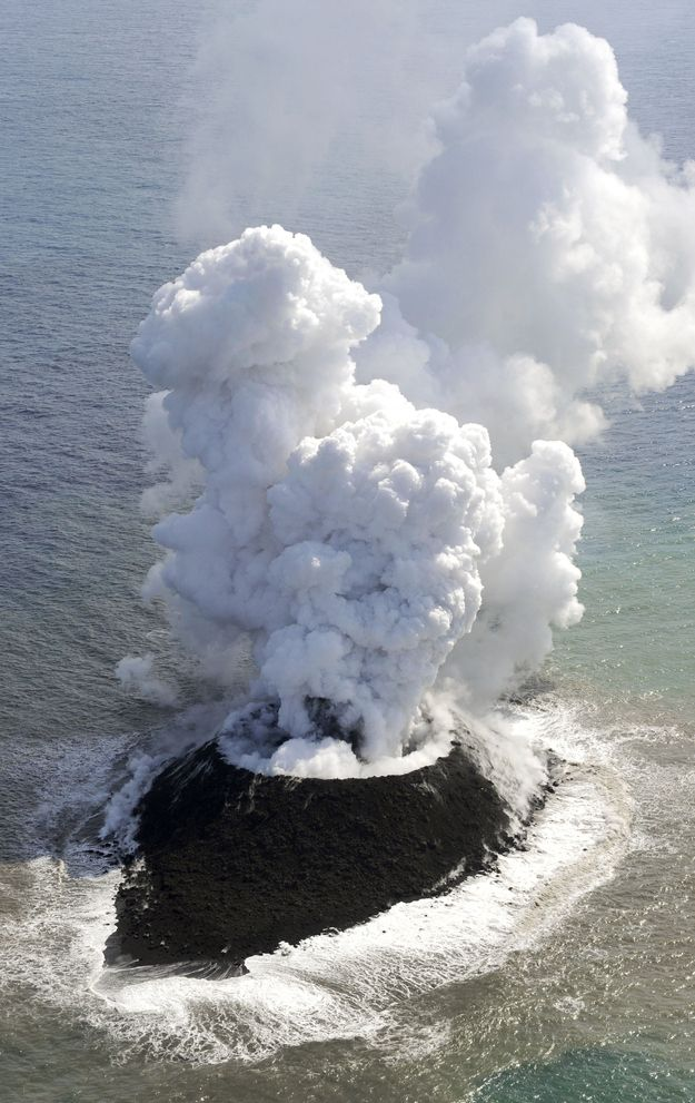 Underwater Volcanic Eruption Gives Birth To New Island Off Japan - posted on Nov. 21, 2013