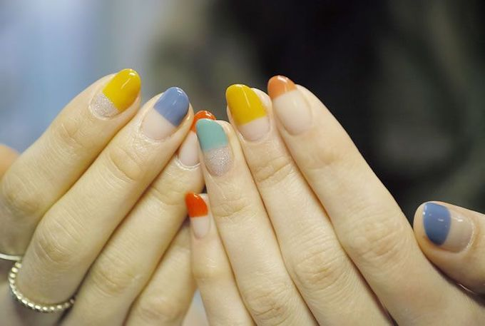 NAIL-COMMON: [Colorful]straight french nail Französisch Nägel