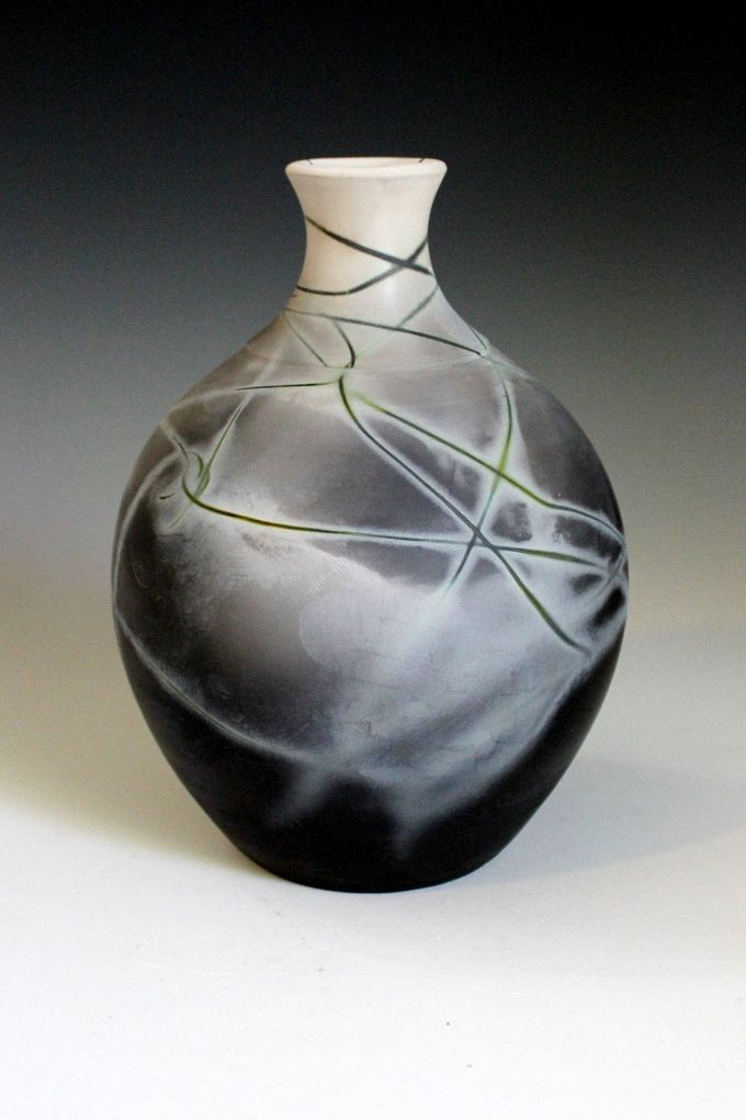 Saggar fired Bottle Anthony Rollins