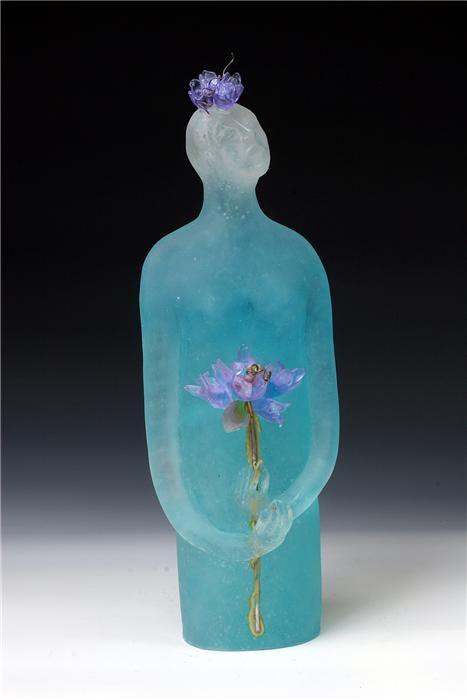 Jan Kransberger: 'Late Bloomer', cast crystal, pate de verre