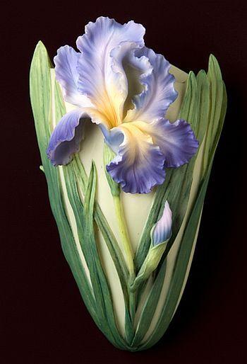 Bearded Iris Wall Vases