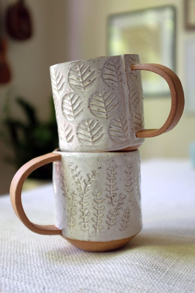 hand-built pottery... -