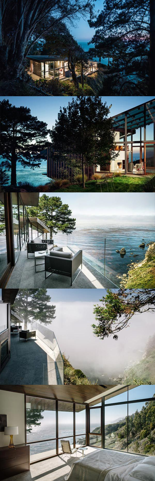 California Holiday House at Big Sur by Fougeron Architecture.