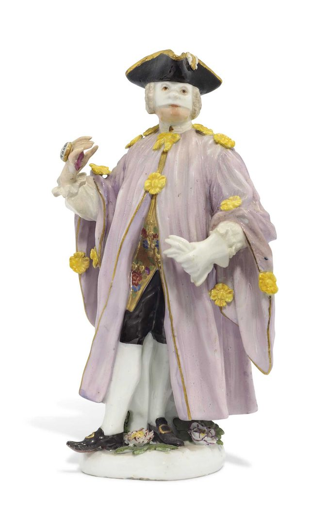 A MEISSEN FIGURE OF L'AVVOCATO FROM THE COMMEDIA DELL'ARTE SERIES | CIRCA 1745, BLUE CROSSED SWORDS MARK | figural, All other categories of objects | Christie's