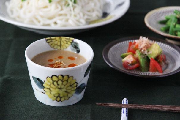 色絵菊 蕎麦猪口 (九谷青窯・徳永遊心)   深皿・ボウル・蕎麦猪口   cotogoto
