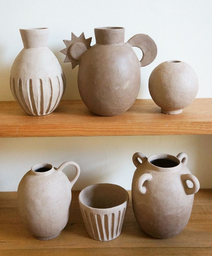 """Katia on Instagram: """"Some recent shapes, before firing."""""""