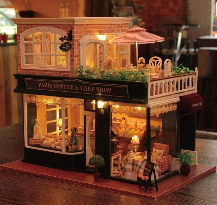 Items similar to Perfect Villa Dollhouse DIY Kit Cute Room House Model With Led Light And Musical Movement - DK41 on Etsy