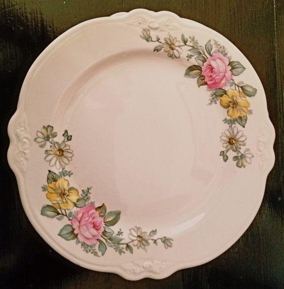 Virginia Rose Plates by Homer Laughlin