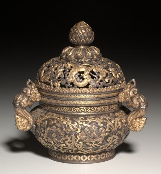 Incense Burner, early 1400s Sino-Tibetan, East Tibet, Derge School, Yongle…