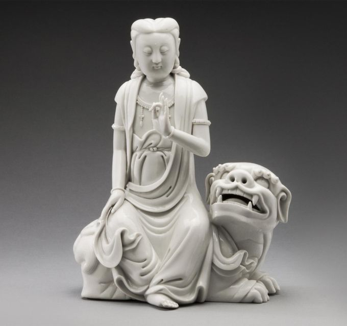 Kuan Yin Seated on Lion  Xu Yunlin, Chinese, 1887 - 1940  Geography: Made in China, Asia  Period: Qing Dynasty (1644-1911) to Republ...