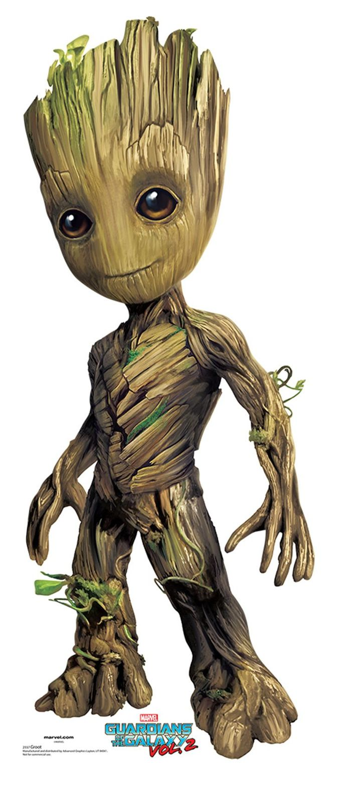 BABY GROOT Cardboard Cutout Standup / Standee from