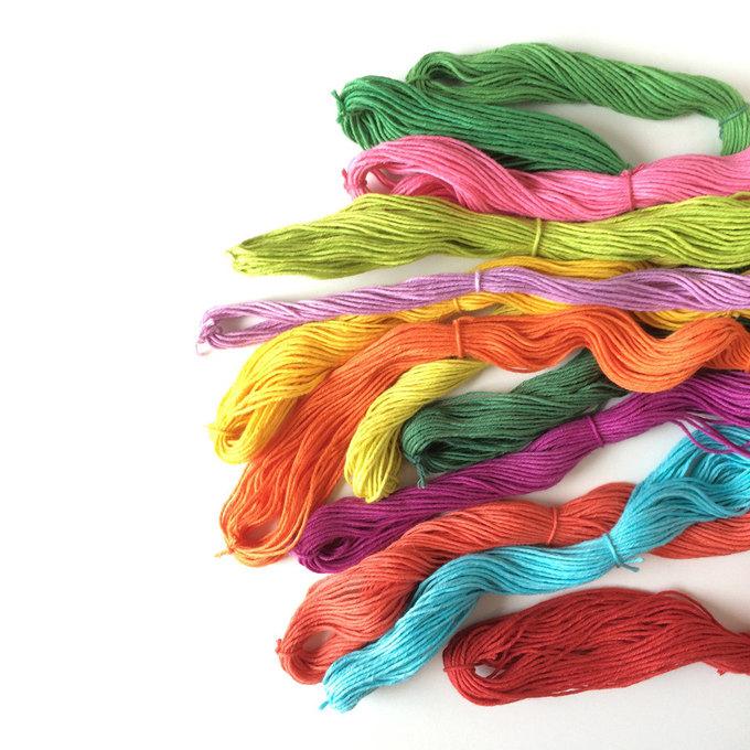 Hand-dyed Kogin threads