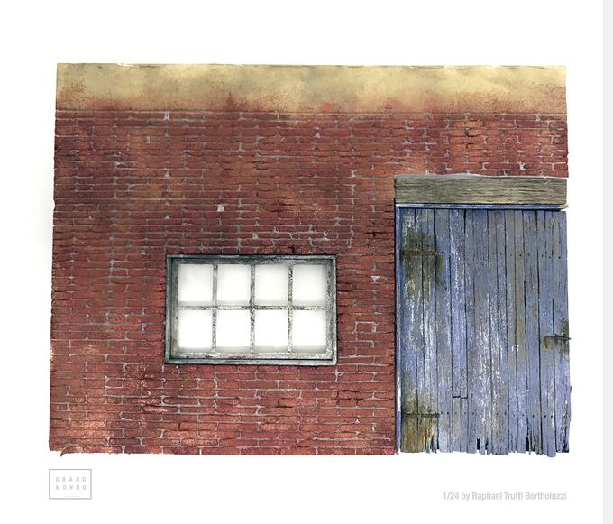 Distressed wood door!