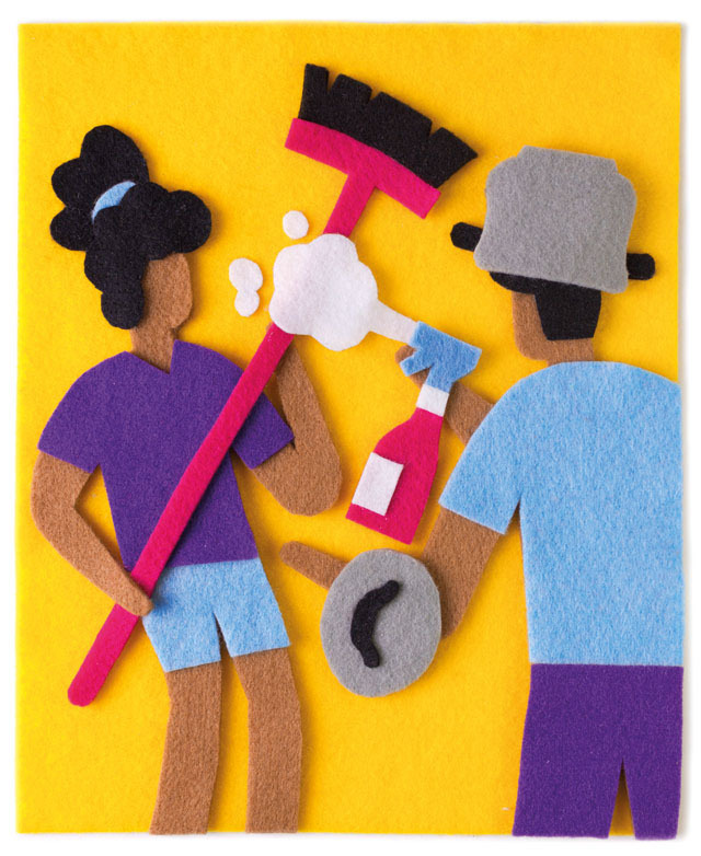 Ebony MagazineCease-Fire in the Chore Wars - Sptember 2013