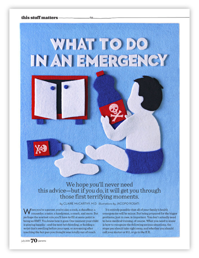 Parents MagazineWhat to do in an Emergency - July 2013