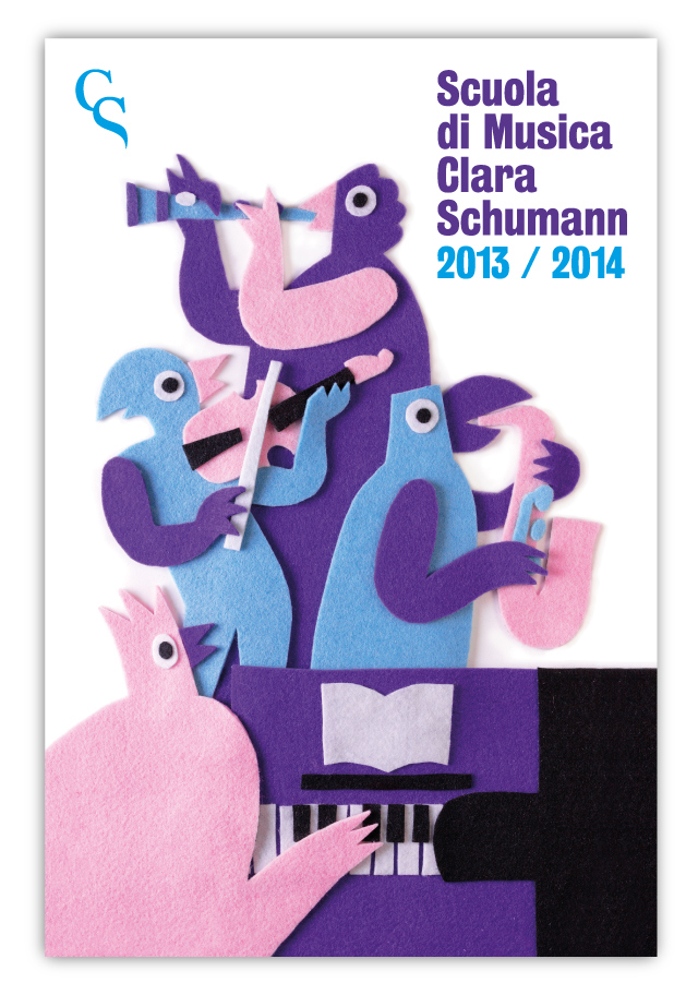 Scuola di Musica Clara ShumannArtwork for a music school - May 2013