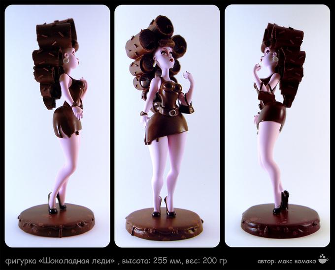 chocolate ladyIllustration