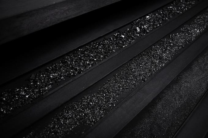 Workspace I, 114 x 65 x 118cm, walnut wood, black ink, light, coal, 2016
