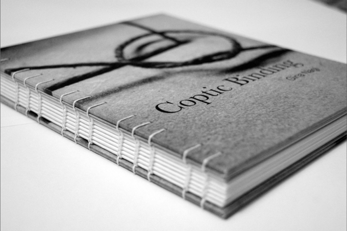 FINAL COPTIC BINDING MANUAL - STITCHED FROM THE OUTSIDE SO PEOPLE CAN REFER TO THE BOOK SPINE WHILE FOLLOWING INSTRUCTIONS.