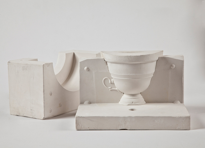 Casting mould of the cup piece