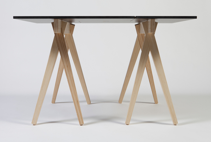 On top of a set of CHOPSTICK sawhorses