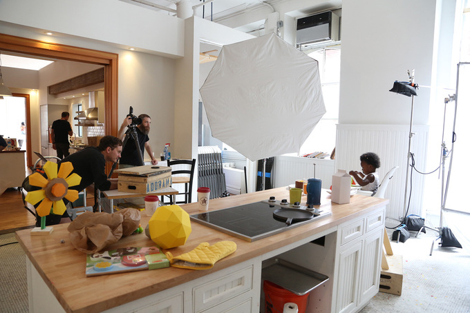 03. Behind-The-ScenesWe rented a space at Home Studios for the hero image photoshoot. One of the baby models thought our paper strawberries were real and tried to eat them! The saliva-drenched aftermath was sadly unsalvageable.