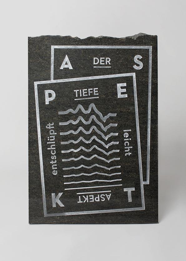 Der tiefe Aspekt entschlüpft leichtLUDWIG WITTGENSTEIN/The deep aspect escapes easilyGłębszy aspekt łatwo umyka50 x 73cm  /  Verde Bahia