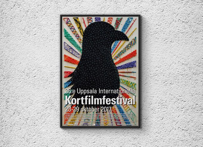 Poster & Trailer forUppsalaInt. Short Film Festival 2017Client: Uppsala International Short Film FestivalMaterials: rubber bands, nails, wooden board.Music is made from rubber bands and nails + hammer, edited in Ableton Live.
