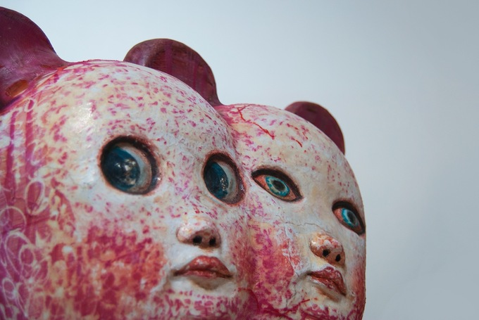 DOUBLE MOUSE (detail) HARD LATEX, MIXED MEDIA HUMANOID SERIES 2012BY: MARIANA MONTEAGUDO