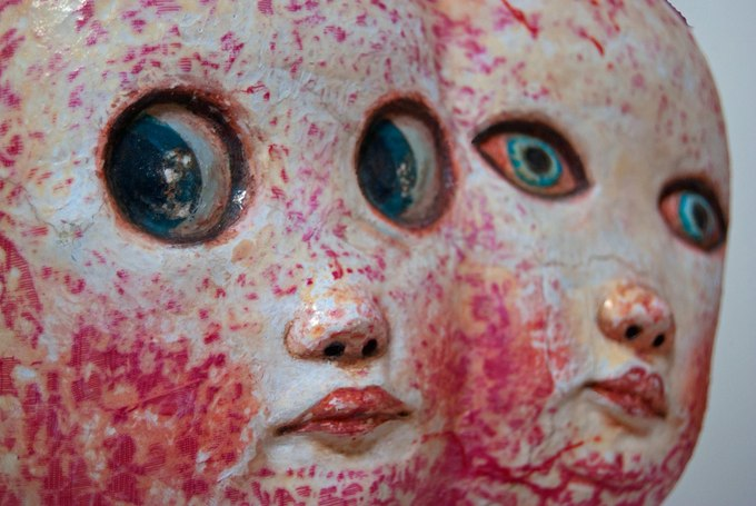 DOUBLE MOUSE (detail 2) HARD LATEX, MIXED MEDIA HUMANOID SERIES 2012BY: MARIANA MONTEAGUDO