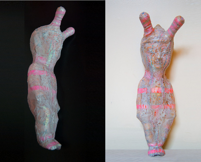 WRAPPED BABY-BUDDHA HARD LATEX, MIXED MEDIA HUMANOID SERIES 2012BY: MARIANA MONTEAGUDO