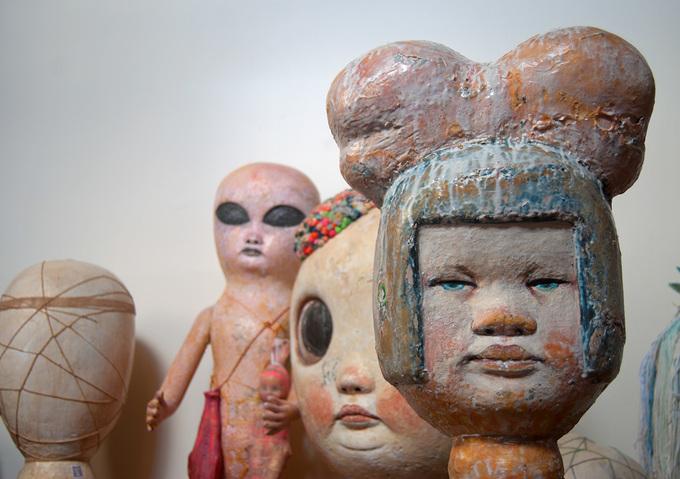 BOW-GIRL HARD LATEX, MIXED MEDIA HUMANOID SERIES 2012BY: MARIANA MONTEAGUDO