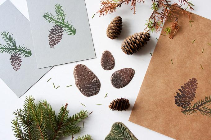 Напечатала к текстилю открытки и конверты.I printed cards and envelopes to match the textile.