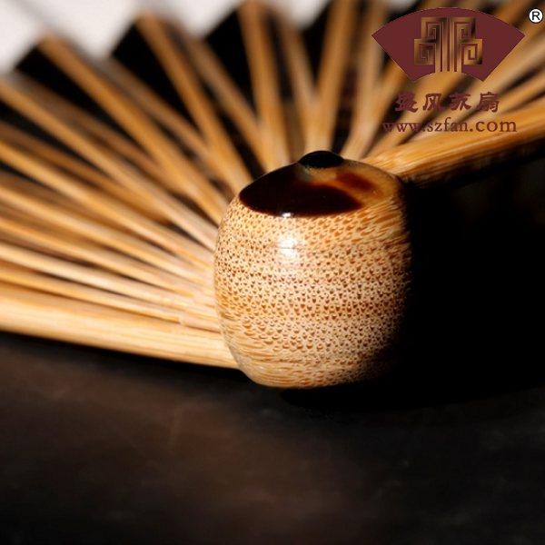 苏工镶嵌工艺玉竹折扇10寸 - 盛风苏扇