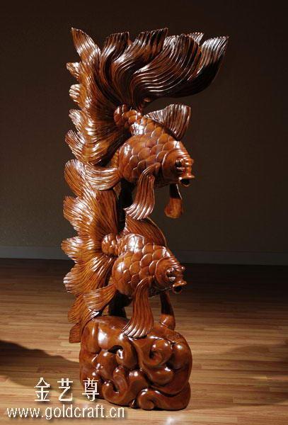 中华木雕刻艺术品 - 自由人 - 自由人