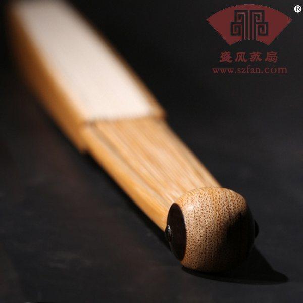 苏州精工嵌龟片玉竹折扇 - 盛风苏扇