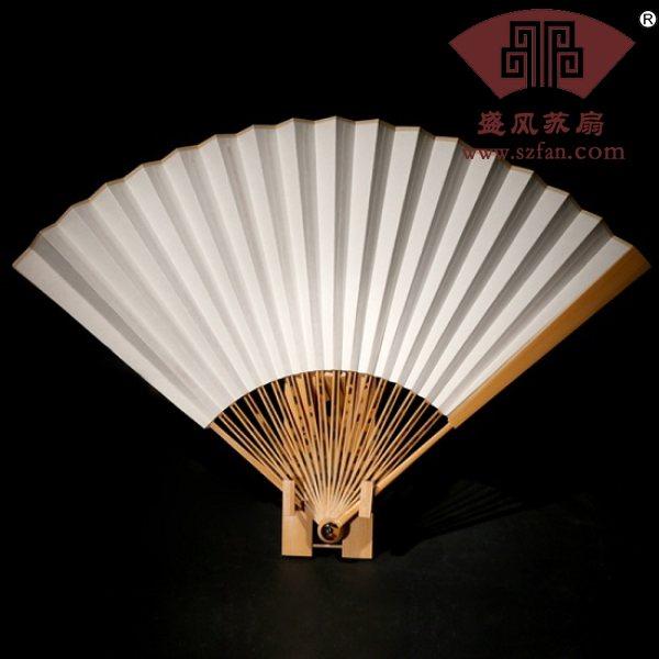 空白宣纸扇玉竹折扇 - 盛风苏扇