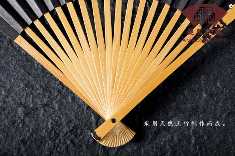 镶嵌扇子洒金扇图片欣赏 - 盛风苏扇