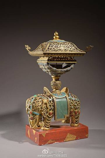 【什么值得拍】6月11日摩纳哥拍卖,19世纪,铜镀金掐丝珐琅大象,估价:700-1000欧元。推荐理由:做工精致,估价便宜。