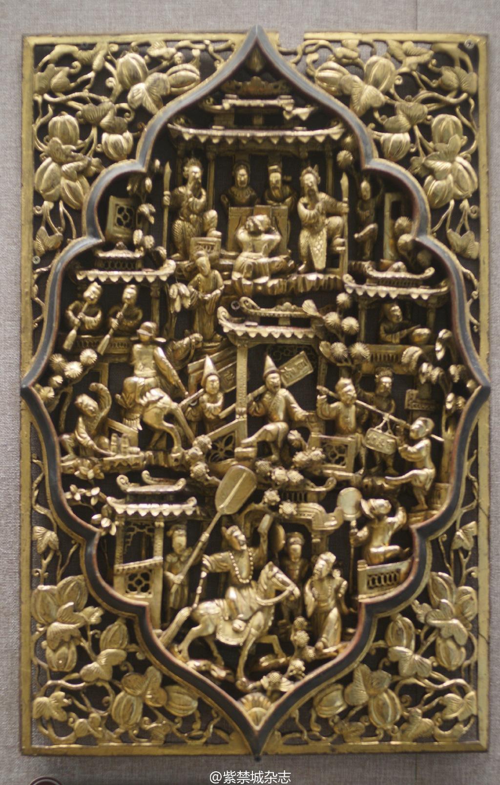 潮州木雕各种门窗隔扇帐顶肚心,广东省博物馆藏