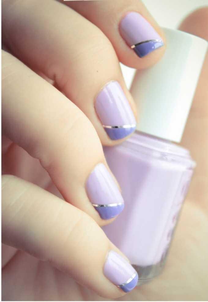 lavendar_nail_design metallic nail designs