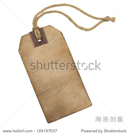 Vintage label with string, isolated on the white background. 正版图片在线交易平台 - 海洛创意(HelloRF) - 站酷旗下品牌 - Shutterstock中国独家合作伙伴