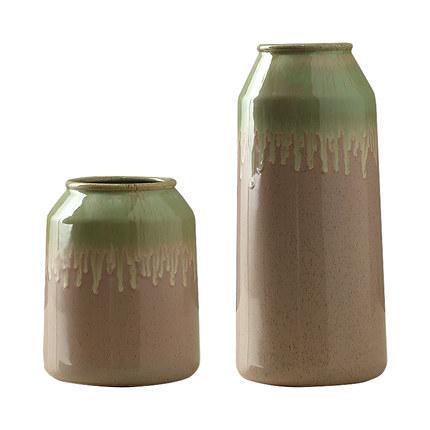 北欧创意陶瓷花瓶干花装饰摆件客厅餐桌美式简约玫瑰插花小花瓶