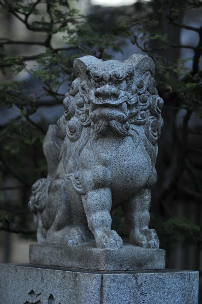Buddhist Guardian Lion, Matsuchiyama Shoden temple, Japan