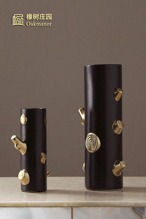 北欧陶瓷插花花瓶创意个性客厅树枝干花器现代家居装饰品落地摆件