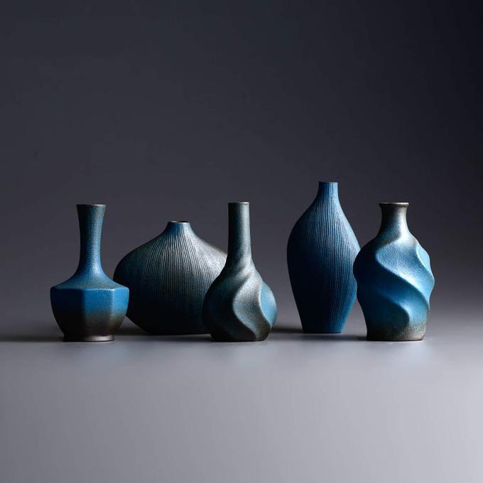 粗陶花瓶 禅意中式花瓶复古花插干花花艺陶艺摆件 小号瓷插花瓶