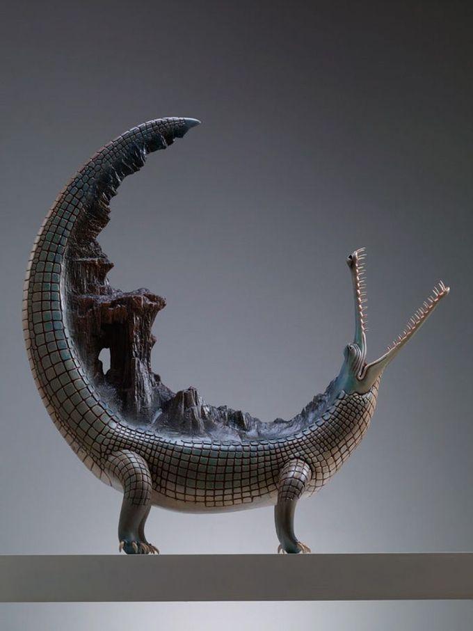 北京艺术家王瑞琳(@王瑞琳雕塑 )的东方美学雕塑作品,温润优雅,呈现出一种具有远古气质的大气之美~~ 王瑞琳的作品最近在国际艺术媒体持续受到关注~【此前本博依据国外媒体信息将王瑞林的部分作品报道为陶瓷,有误,其作品多为铸铜彩绘:http://weibo.com/3931672306/BkXOmfYS7 】