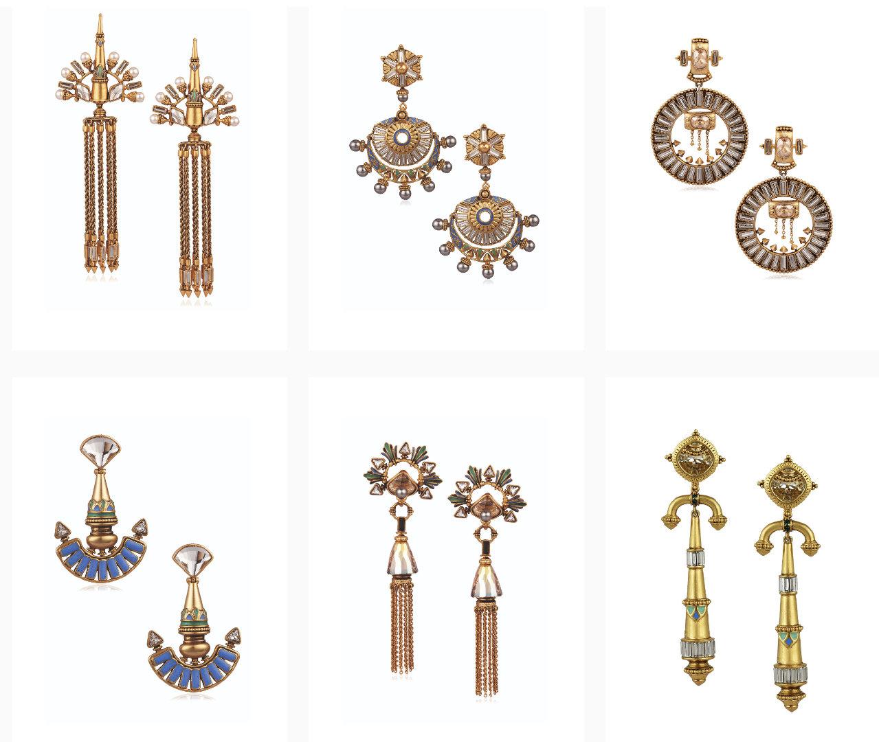 #印度# Amrapali这个系列太赞了~去年带回来3对耳环,人人惊艳。当时还诧异,为啥合金的还能卖这么贵,今天才发现这个系列用的是施华洛世奇水晶……官网比店内款式更多更精美,心痒! 