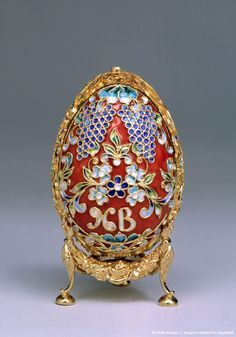 A Faberge Egg from the Kremlin Museum collection in Moscow,