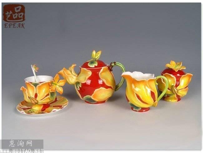 工艺珐琅瓷陶瓷法蓝瓷